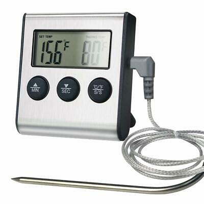 LCD Digital Food Thermometer Probe Temperature for Cooking BBQ Meat Timer Alarm
