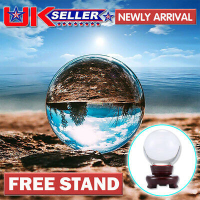 Clear Crystal Ball 80/100mm Photography Glass Lens Sphere Ball Photo Decoration