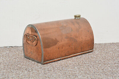 Vintage old  copper carriage foot warmer /  hot water bottle - FREE POSTAGE
