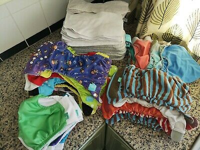Preloved/used Cloth Washable Reusable Nappy Bundle + Inserts