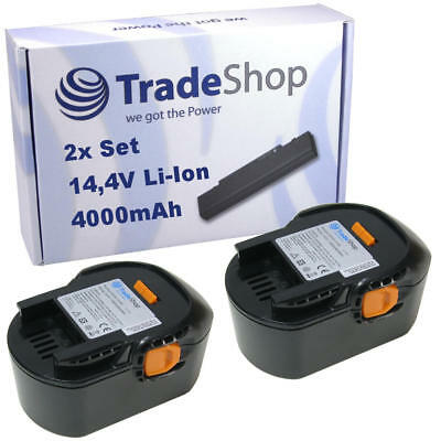 2x Trade-Shop Batteria 14,4V 4000mAh Liion per AEG BBM14 Stc-R BS14 X-R BS14G X