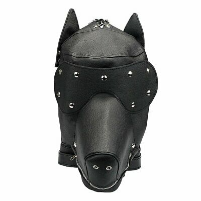 Puppy play role play mask interchangeable leather PVC BDSM Bondage adult play