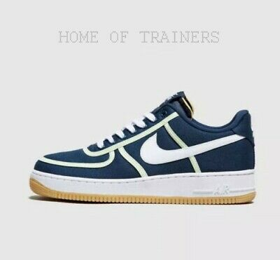 NIKE AIR FORCE 1 '07 Premium Blue White Men's Trainers All