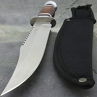 "12"" WOOD SURVIVAL HUNTING FIXED BLADE STAINLESS STEEL KNIFE Survivor Bowie"
