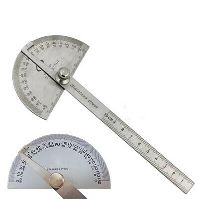 Stainless Steel 180 degree Protractor Angle Finder Arm Measuring & Gauging Tools