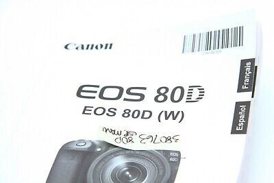 CANON EOS 80D Instruction Owners Manual EOS 80D Book NEW