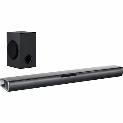 LG SJ2 160 Watt Soundbar Bluetooth with Wireless Subwoofer - Black A