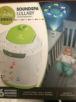 HoMedics MyBaby Soundspa Lullaby Sound Machine & Projector, New In Box