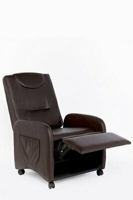 Folding Manual Recliner Armchair Living Room Chair Stool