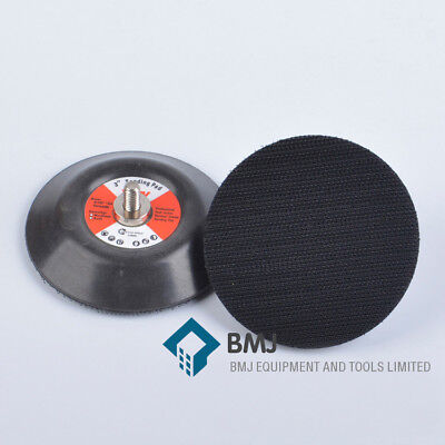 2 pieces/lot 3 Inch 75mm Hook and Loop Sanding Backup Pad 5/16-24 Male Thread