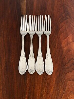 - (4) Rogers, Smith & Co 19Thc Silverplate Dinner Forks: Olive Pattern Carrie