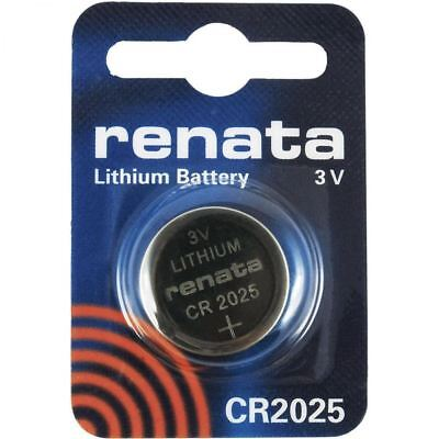 2x Renata Battery 3v Lithium Coin Cell Batteries CR2025