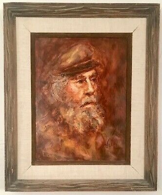 Stunning impressionistic portrait painting of Howard Orr. Signed Val Tupa