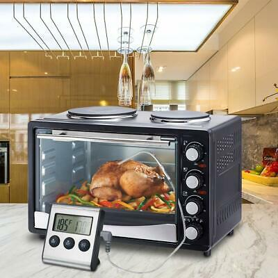 Digital Display Food Thermometer Timer Alarm Meat BBQ Cooking With In Oven Probe