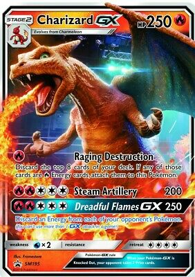2 X Charizard GX Promo Sm195 Pokemon Detective Pikachu Small and Large Cards