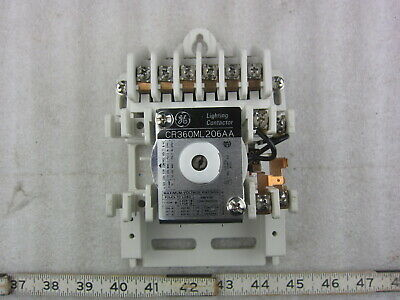 GE General Electric CR360ML206AA 6P 120V Coil Lighting Contactor Relay, Used