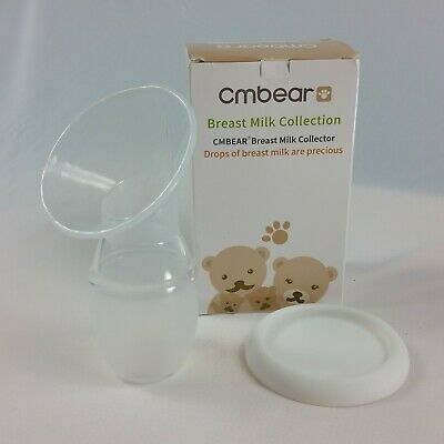 Cmbear Breast Manual Milk Collector Compact Travel Liquid Silicone