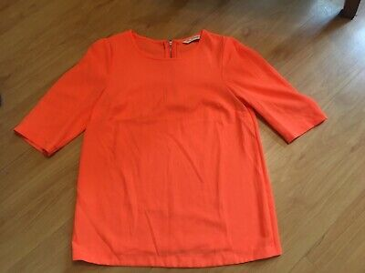 Bnnt Ladies/Older Girls Orange Short Sleeved Summer Top Miss Selfridge Size Uk 6