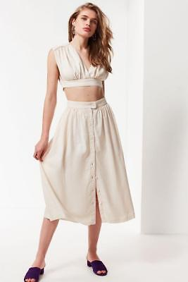 8f95d5238c54 NWOT URBAN OUTFITTERS ARIANNA BUTTON-DOWN MIDI SKIRT, sz S - $29.99 ...