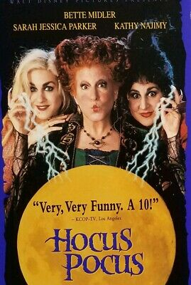 Hocus Pocus (VHS 1994) Bette Midler Disney Movie Kids Witches Halloween Comedy