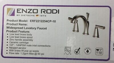Two-handle Low-arc Solid Brass Widespread Bathroom Faucet with Ceramic Valve-OB