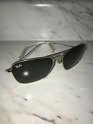 99826b8783cfd NEW Ray Ban Sunglases RB 3136 Caravan RB3136 001 58mm Gold frame green Lens