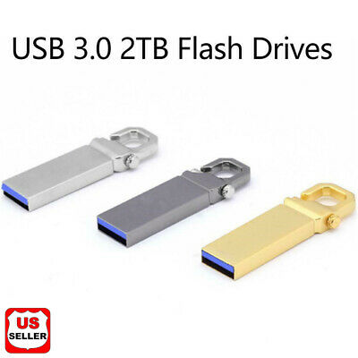 2TB Metal USB 3.0 Flash Drive Memory Stick Pen U Disk Swivel Key Thumb PC Laptop