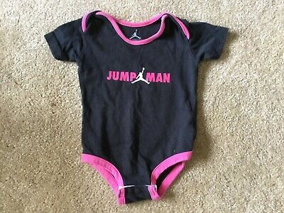 83f8c9b6b86 Nike Air Jordan One Piece Bodysuit Baby Girls Size 6-9 Months Pink