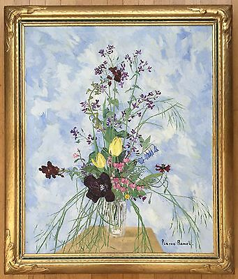 Lovely, Pierre Ramel(French 1927-1997) Original Still Life Oil Painting/ Canvas