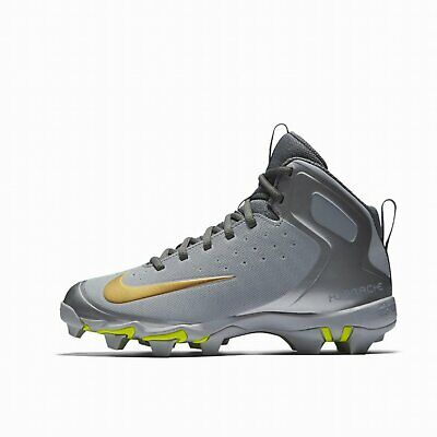 New Baseball Cleats Nike kids' T-BALL Youth alpha huarache Mid Grey Silver Gold