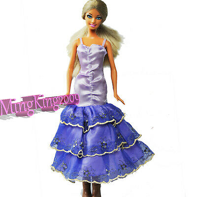 New Cute (purple&Blue)  Mini Dress&Clothes for 1/6 (11.5 Inch) BJD Doll
