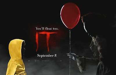 """It movie poster (c) - 11"""" x 17"""" inches - Stephen King (2017) Clown Horror"""