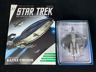 Eaglemoss Star Trek Collection- Starship & Magazine #37-Andorian Battle Cruiser