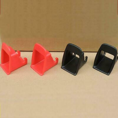 Black/Red 1 Pair Car Baby Seat ISOFIX Latch Belt Connector Guide Gr Plastic E7Q4