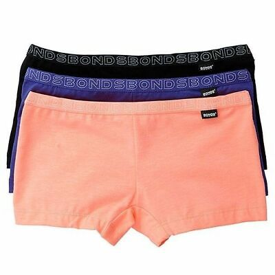 Girls Kids Bonds 3 Pack Hipster Shorties Boyleg Netball Knickers School Shorts