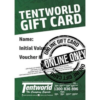 Tent World Online Gift Card $200