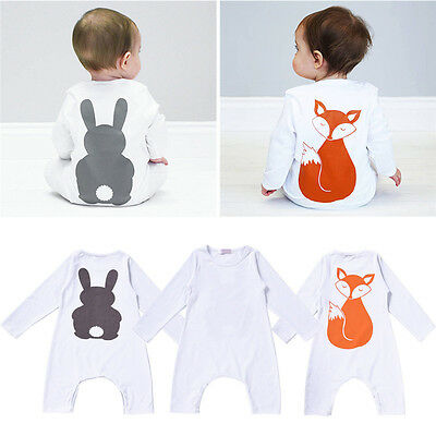Top Baby Kids Boy Girl Infant Romper Jumpsuit Bodysuit Cotton Clothes Outfit GR
