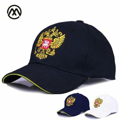 New Neutral Cotton Outdoor Baseball Cap Russia Badge Embroidery Snapback Fashion