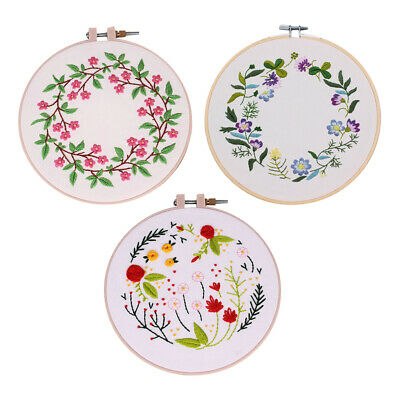 Hand Embroidery Cross Stitch Patterns Sampler Kit for Beginners Craft