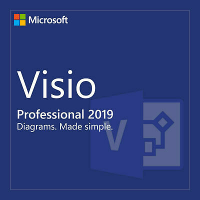 Microsoft Visio 2019 Professional 1 PC 64 bit Product Key / Code + Download LINK