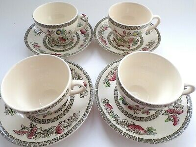 JOHNSON BROTHERS Vintage INDIAN TREE Design  TEA  CUPS & SAUCERS