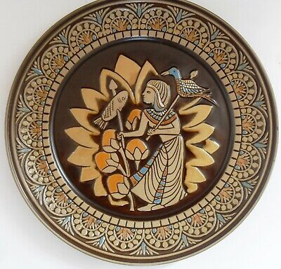 DENBYWARE UK Limited Edition EGYPTIAN COLLECTION Plate No I THE KING'S FISHERMAN