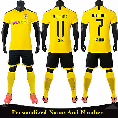 19/20 Football Club Yellow Home Kit Kids/Adult Jersey Strip Suits Shirt & Shorts