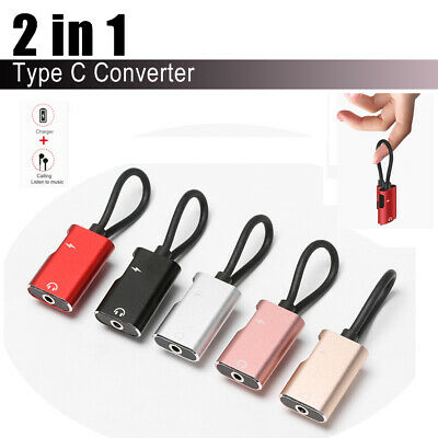 alloy Type C to 3.5 mm 2 in 1 Converter Earphone Adapter USB C Audio Cable