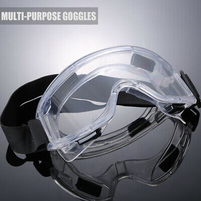 Multi-purpose Clear Lens Eye Protection Flexible Lab Safety Glasses Goggles