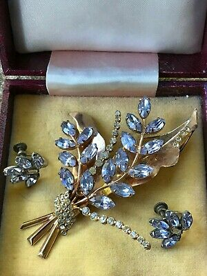 GENUINE Donald Simpson Signed Brooch and Earrings in Original Box