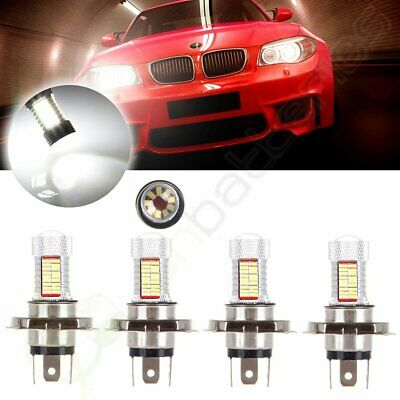 4x 6000K 5000LM White Fast Shipping 9003 H4 HB2 Cree LED Lamp SMD Fog Light