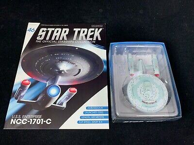 Eaglemoss Star Trek Collection- Starship/Magazine #46- Uss Enterprise Ncc-1701-C