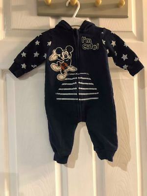 baby boys navy disney micky mouse outfit / suit age 3-6 months