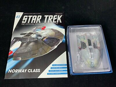 Eaglemoss Star Trek Collection- Starship & Magazine #61 - Norway Class